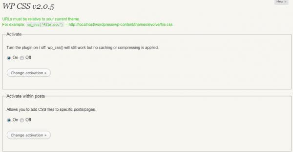 WP CSS Plugin