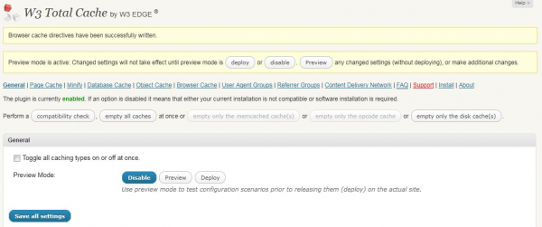 w3 totalcache wordpress plugin