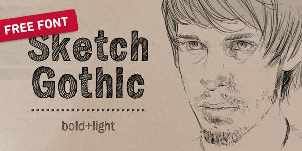 Sketch Gothic font