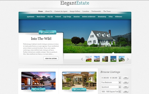 ElegantEstate wordpress theme