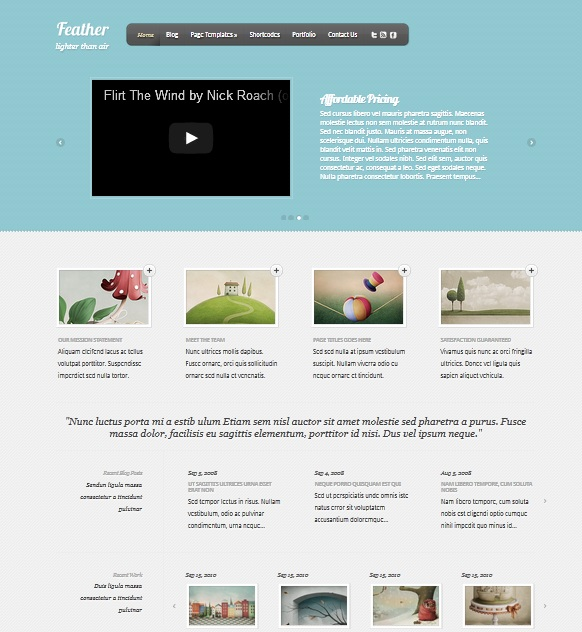Feather wordpress themes