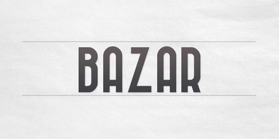 Bazar font