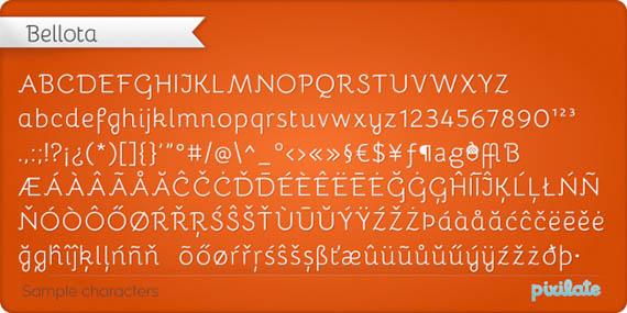Bellota font