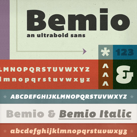 Bemio font