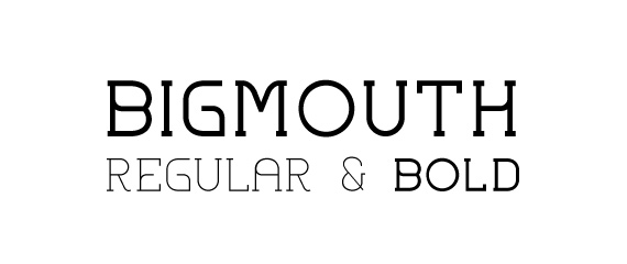Big Mouth font