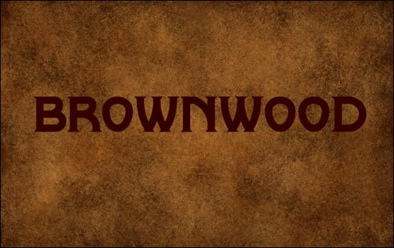 Brownwood font