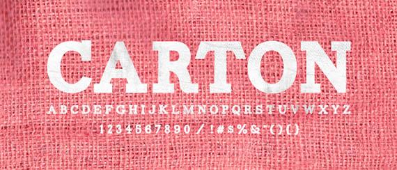 Carton font