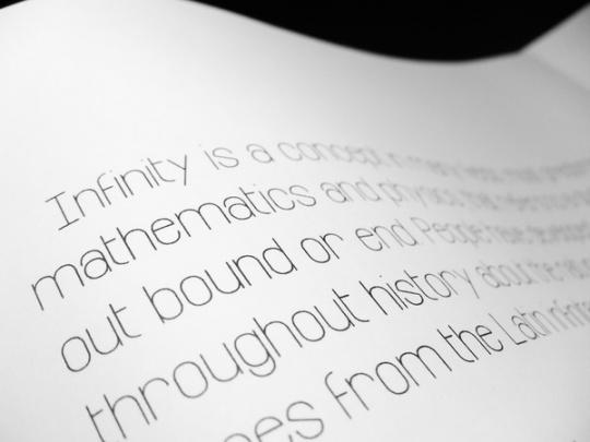 Infinity< font