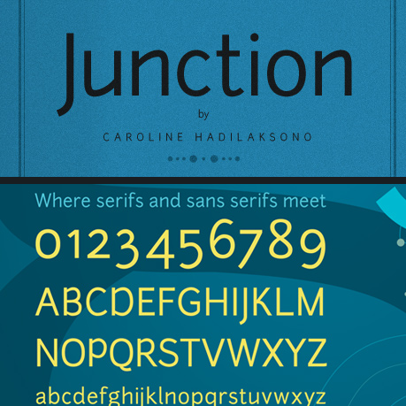 Junction font