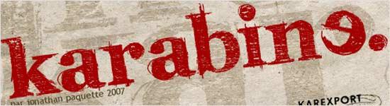 Karabine font