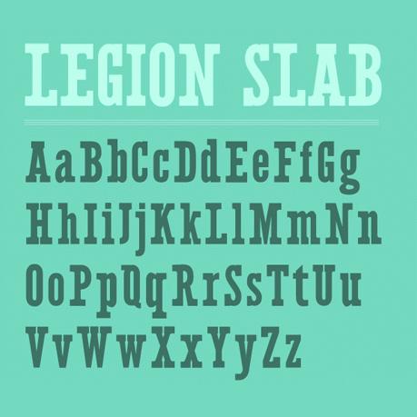 Legion Slab font