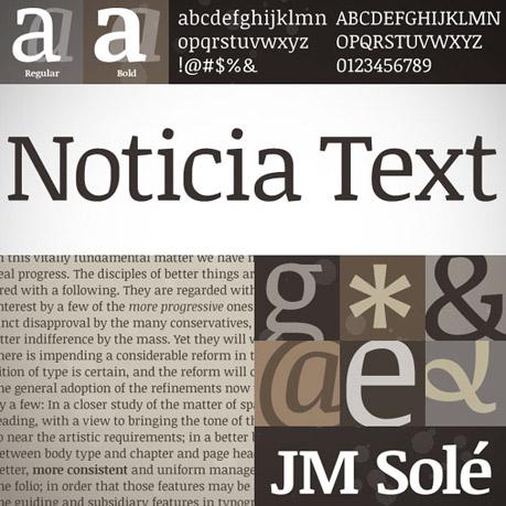 Noticia font
