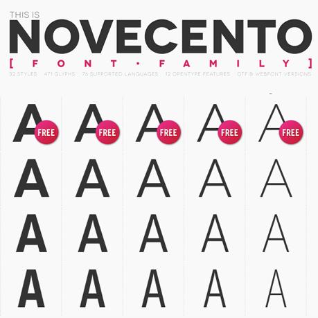 Novecento font