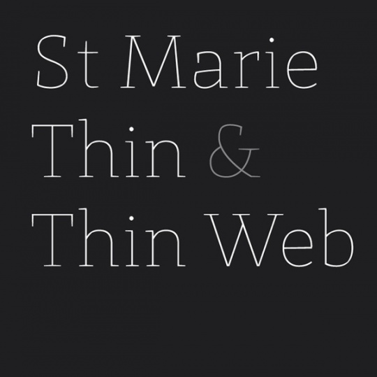 St. Marie Thin font