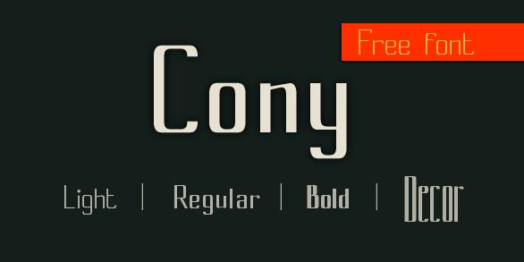 cony font